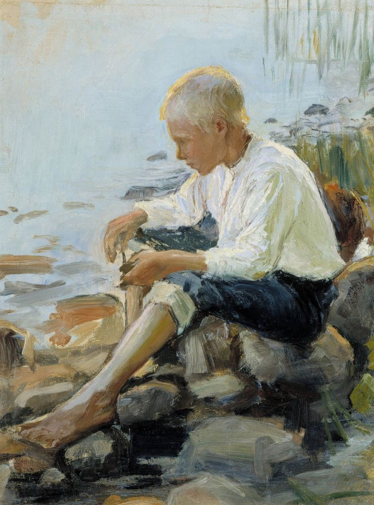 Pekka Halonen, Poika rannalla (Boy on the Shore), 1891-1893, The Life and Art of Pekka Halonen - http://www.alternativefinland.com/art-pekka-halonen/
