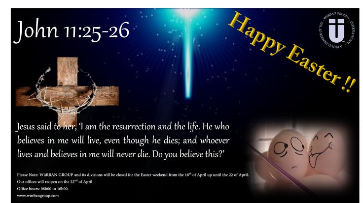 Happy Easter to All!  Yours Personally WüRBAN GROUP Team www.wurbangroup.com