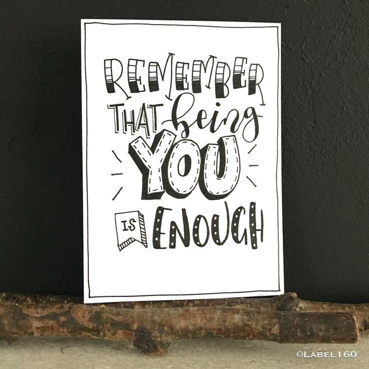 recuerda que ser tu es suficiente.