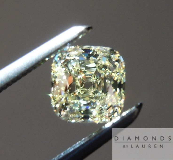 Yellow Cushion Cut Diamond Mineraler Pinterest