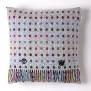 Lambswool Cushion Multispot Grey Multi #homeaccessories #homedecor #countrystyle