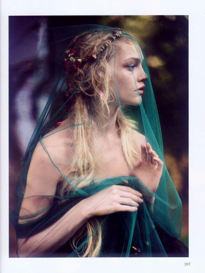 Sasha Pivovarova photographed by Paolo Roversi for Vogue India, October 2007