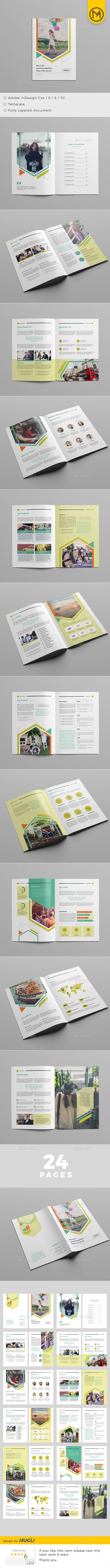 Brochure Template InDesign INDD - 24 Pages