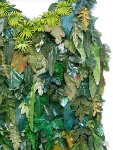 """""""зеленые"""" наряды из искусственных листочков"""