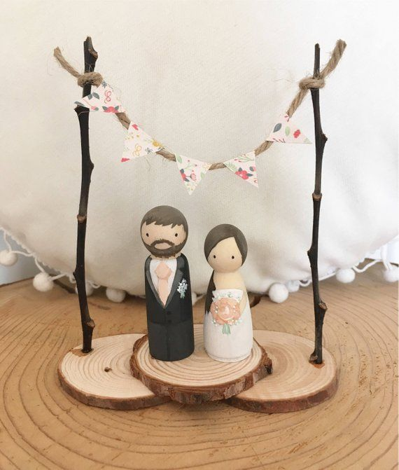 Rustic Bride Groom Custom Personalised Christmas Wedding Cake