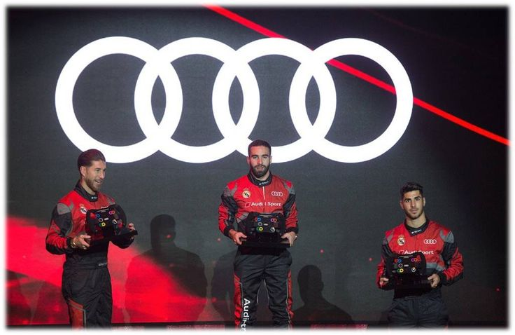 🏆CARVAJAL was the Winner!!🏆❤Audi (Spain) organised a competition between #RM Players with formula E simulators...Congratzz🎉🎉
