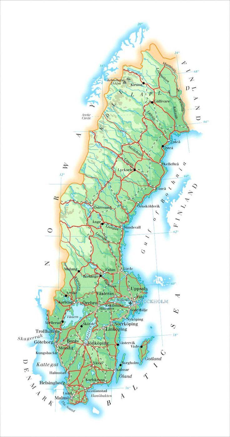 The Best Sweden Map Ideas On Pinterest Stockholm Stockholm - Sweden map halmstad