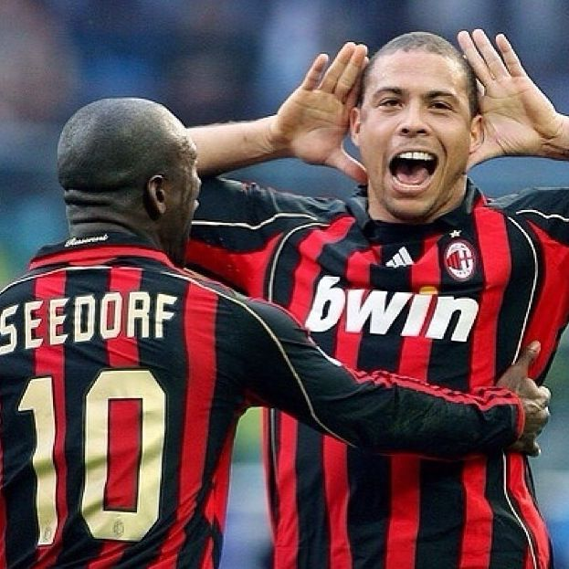 Seedorf and Ronaldo AC Milan