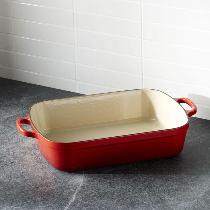 Le Creuset ® Signature 5.25-qt. Cerise Red Roaster - Crate and Barrel