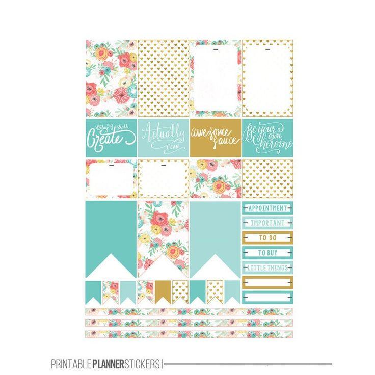 Autocollants colorés mignons et décoratifs de planificateur de journaling