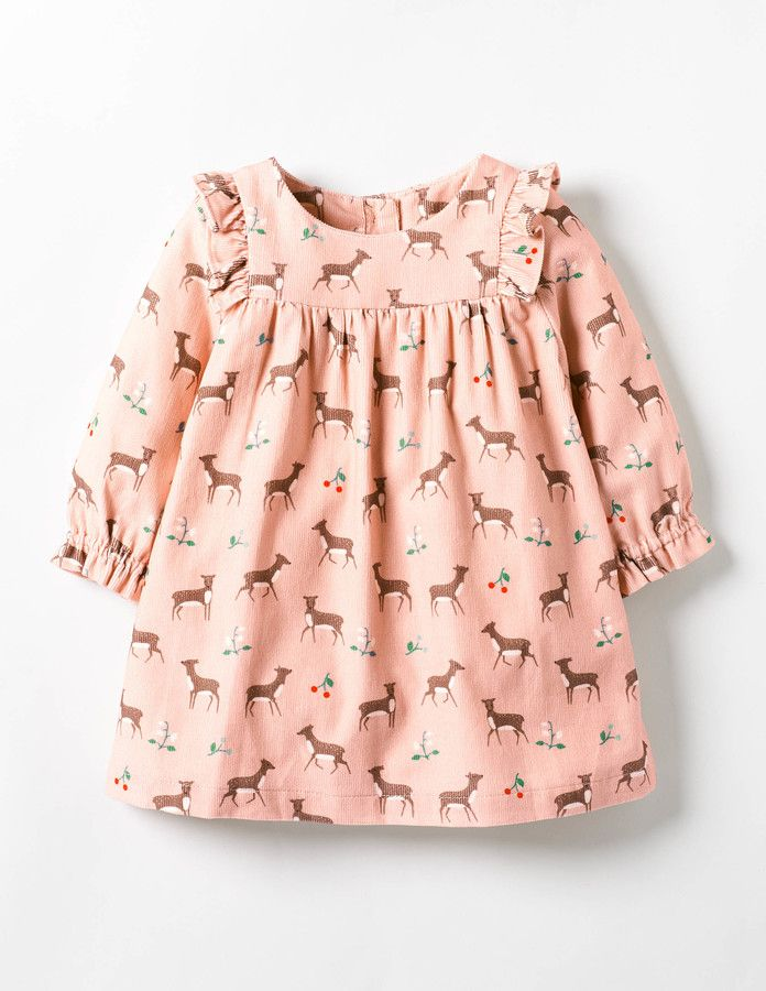 Pretty fawn kids dress. Patterned Ruffle Dress #affiliate (I will receive a small commission if you click this link)