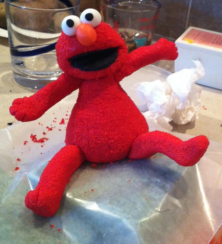 Elmo Cake Decorations : Elmo Birthday - Marshmallow fondant cake topper. Elmo ...
