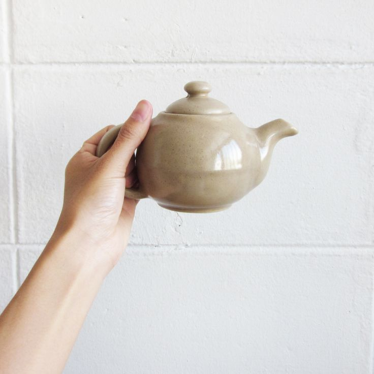 Handmade Potteries Tea Sets Selected by Tan-Pale Brown Teapot-www.tanbagshop.com
