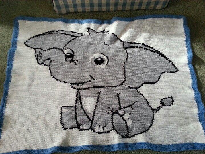 Elephant Afghan Crafts Crochet Elephant C2c Crochet