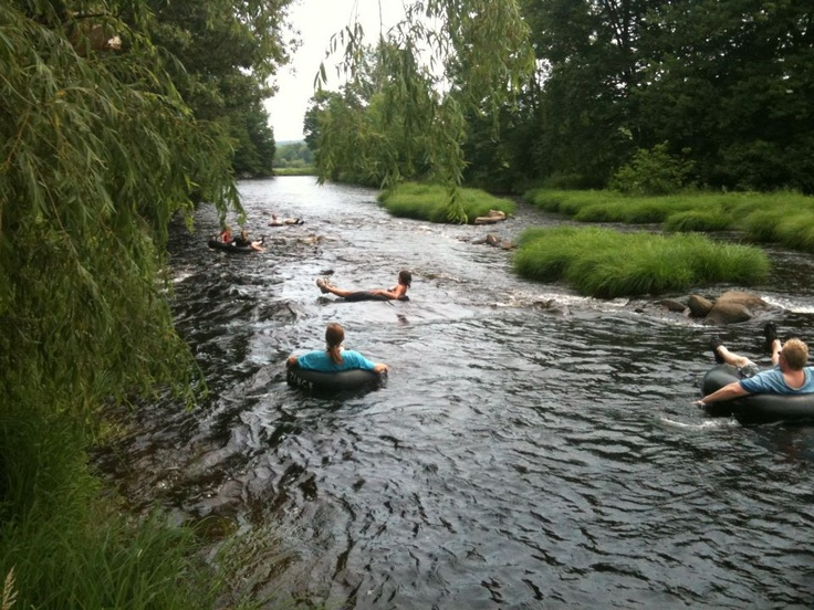 Gaspereau River tubing - a favourite activity
