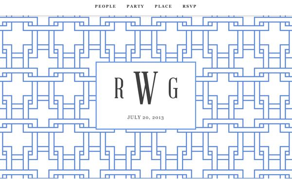 perfectly preppy website design from Riley & Grey