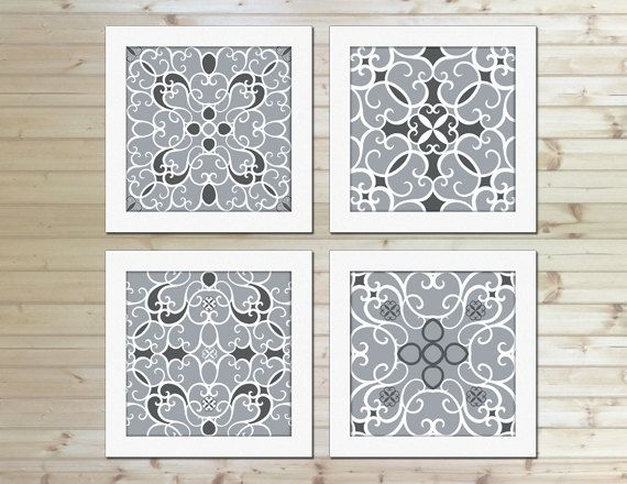 Grey And White Wall Art best 25+ grey abstract art ideas on pinterest | grey printed art