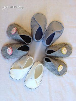 Schnittmuster Filzschuhe Wool Felt Baby Shoes