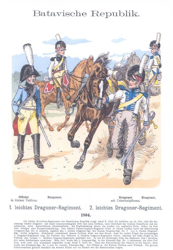 Band XIII #12.- Niederlande. 1804. 1. u. 2. leichtes Dragoner-Regiment.