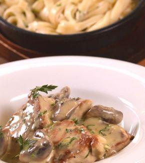 Χοιρινό φιλέτο σοτέ με μουστάρδα, μανιτάρια και ταλιατέλες | Γιάννης Λουκάκος