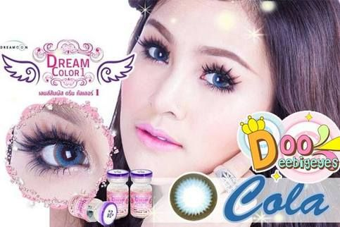 Coloured contact lenses Bigeye Natural Tones Cola contact lenses bigeye Cola_Blue Code: Cola_Blue Brand: Dream Color Model: Cola_Blue Soft Contact Lens Duration : 1 Month Diameter(mm) : dia 14.5 Base Curve(mm) : B.c 8.60 Effect 18.0 Water content 42% Expire : 5 Years Manufactured by Dr...