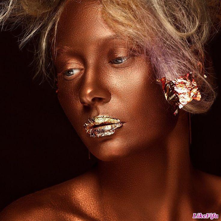 #Креативный_вариант_макияжа, #новый_образ, #бронзовая_кожа