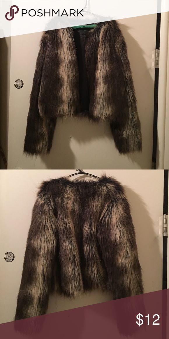Forever 21 fur coat Blonde-ish brown fur coat Jackets & Coats