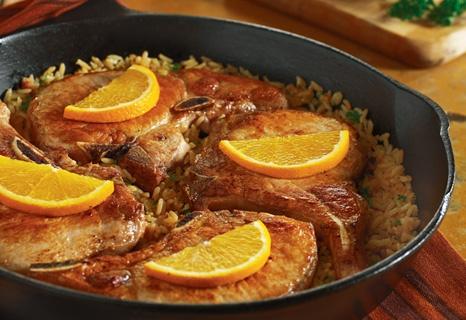 pork and rice simmer dinner: Meals Recipes, Rice Recipes, Skillets Meals, Weeknight Recipes, Dinners Recipes, Chops Skillets, Skillets Dinners, Favorite Recipes, Pork Chops