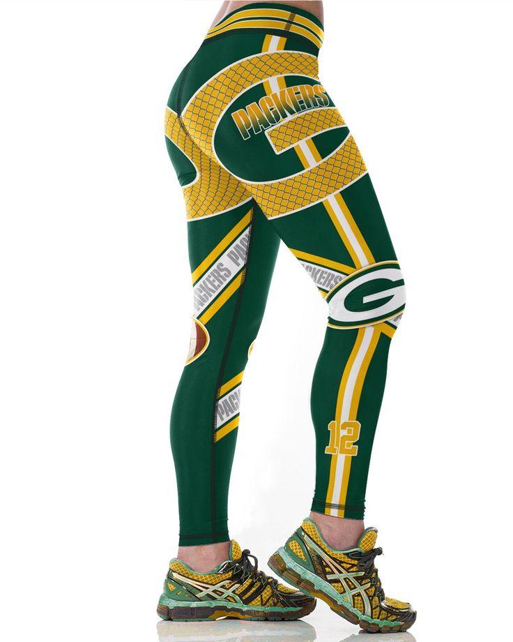 Green Bay Packers Printed Leggings & Yoga Pants High Quality (NEW)