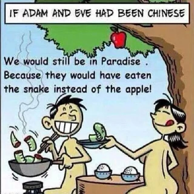 If Adam n Eve are Chinese