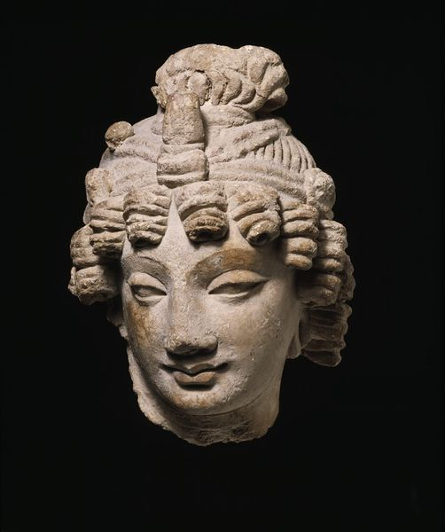 Head of a Bodhisattva. Peshawar region, Gandhara, Pakistan. 3rd-5thC, V&A Collections.