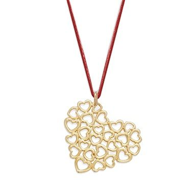 For Christmas perfect gift choose the Full Love necklace from the Full Love collection. The necklace is initiated with the ring, which offers your beloved one a set entirely dedicated to loving theme. Available in 23k gold-plated and 925 silver #lilou #christmas #necklace #full #love #gift #present #elegant #original