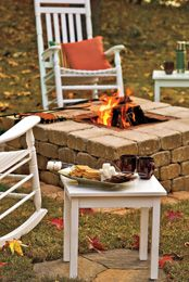 Easy DIY Square Firepit Idea For Backyard (fire Pit)