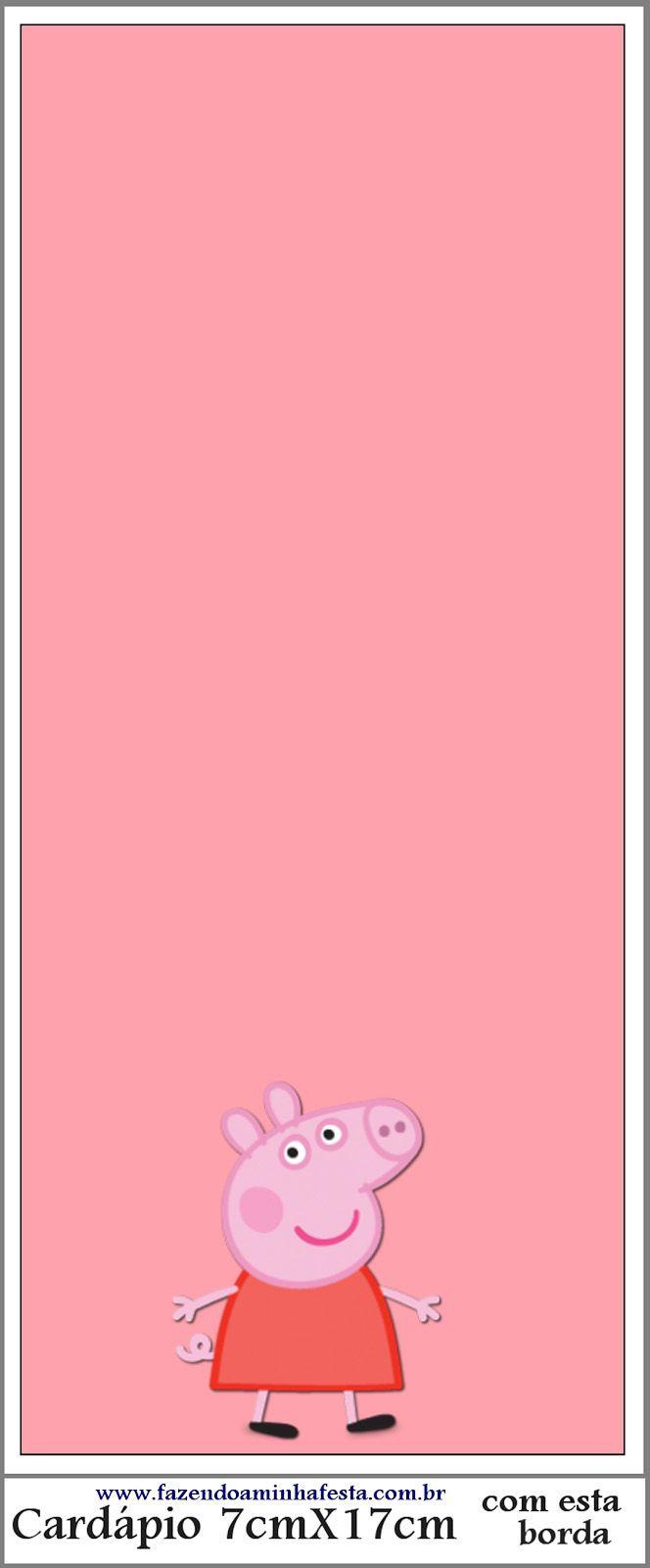 Pe peppa pig coloring pictures to print - Peppa Pig Tarjeter A Para Imprimir Gratis