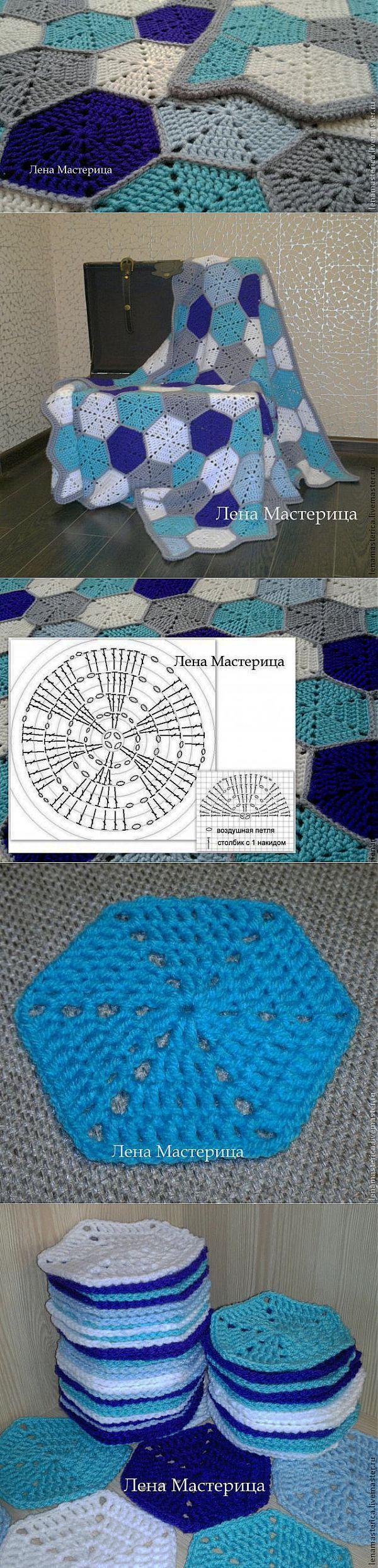 вязание афганского квадрата крючком схемы