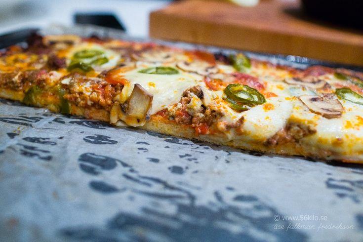 Köttfärspizza med ägg Glutenfri / LCHF
