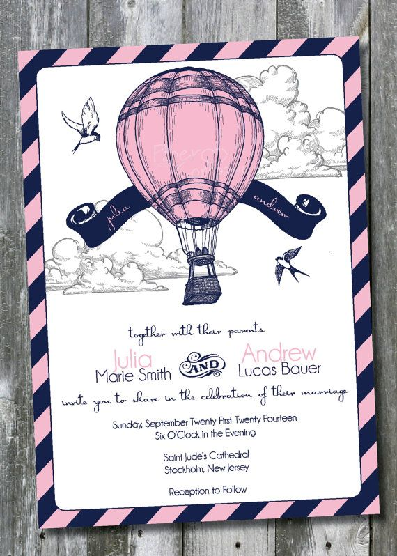 FLY AWAY Up Up et Away Air chaud ballon par PaperHeartCompany
