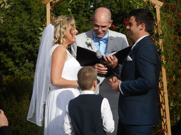 Young ring bearer and smiles all round.