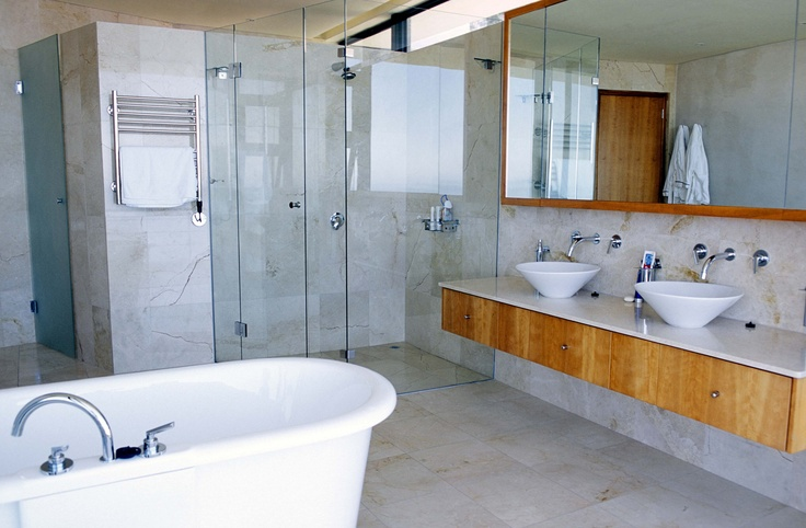 Natural Stone bathroom - amber has the answer