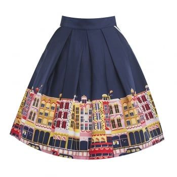 Daniella Carnaby Street Swing Skirt | 50s Inspired Fashion - Lindy Bop