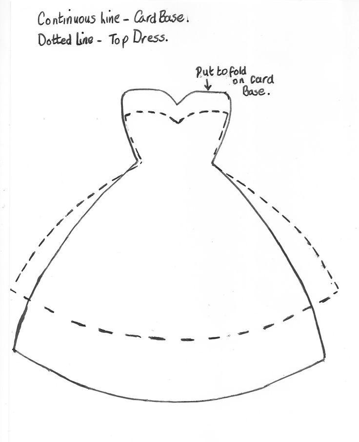 Скрапбукинг платье открытка шаблон
