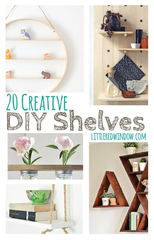 20 Creative DIY Shelves | littleredwindow.com