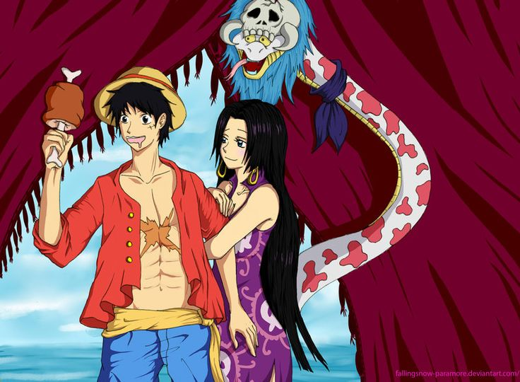145 best images about luffy x boa hancock on pinterest - One piece luffy x hancock ...