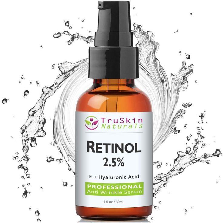 BEST Retinol Serum for Wrinkles & Fine Lines -2.5% Vitamin A + Hyaluronic Acid, Vitamin E, Organic Green Tea, Jojoba Oil - Works Best With TruSkin Naturals Vitamin C Anti Aging Serum - (1oz) ** FIND OUT @ http://www.castoroil.com.my/oil/10044/?324