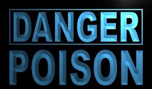 Danger Poison Neon Light Sign