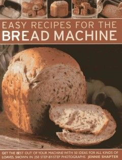 How to bake bread in your bread machine - including techniques, settings and troubleshooting. Includes 50 traditional and contemporary recipes from around the world, all specially adapted for use in today's bread machines and convertible to small, medium and large models.