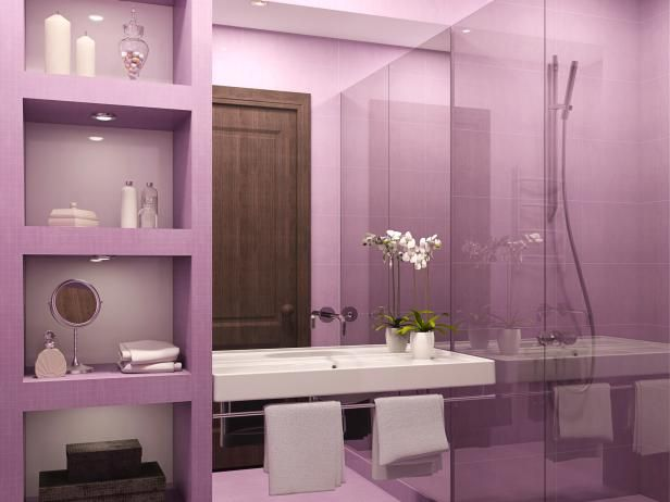 HGTV has inspirational pictures, ideas and expert tips on purple bathroom  decor that bring a