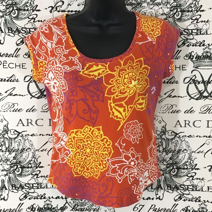 Talbots Petites Womens Floral T-Shirt Crewneck Cap Sleeve Tee Size P / Petite #Talbots #GraphicTee #hindi #floral #capsleeve #ebay #zegun #style #fashion #summerstyle