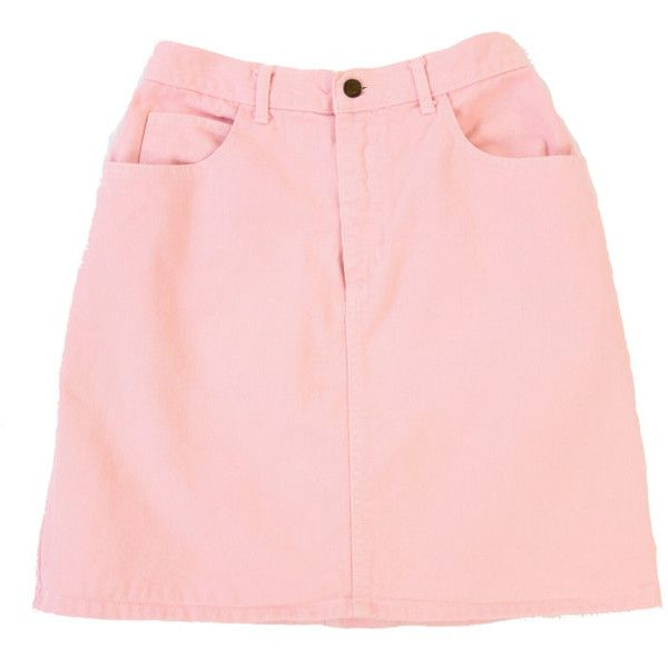 VINTAGE Pink Denim Skirt 90s GUESS Jeans Medium (€38) ❤ liked on Polyvore featuring skirts, bottoms, clothes - skirts, denim, guess skirts, checked skirt, pink skirt, pink high waisted skirt and high-waisted skirt