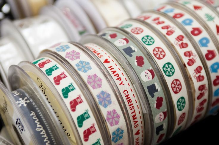 Add festive flair to your wrapping with ribbons from Watson and Thornton